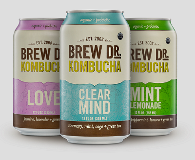 Cans available in Clear Mind, Ginger Tumeric and Mint Lemonade flavors